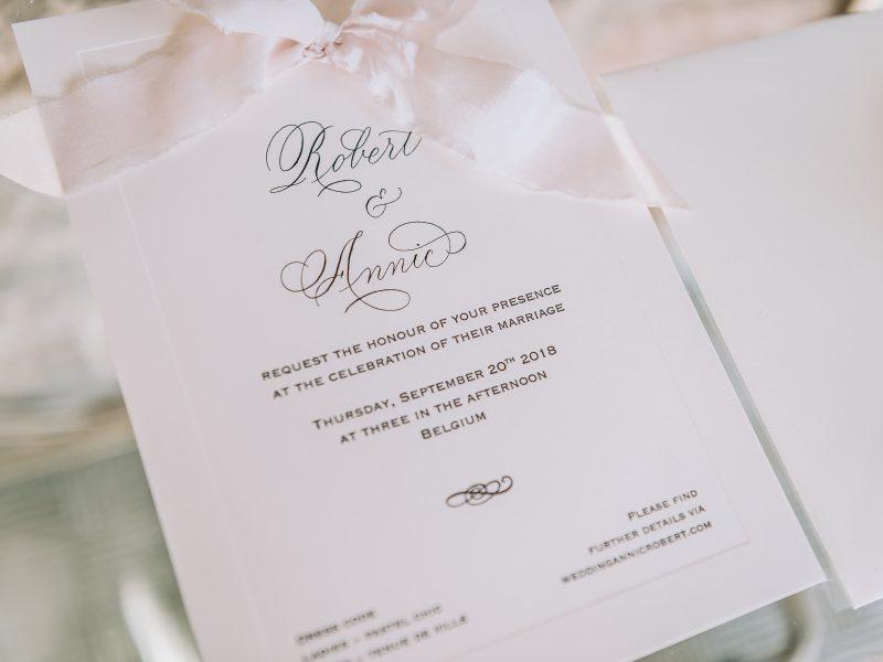 Kalligrafie op uitnodiging