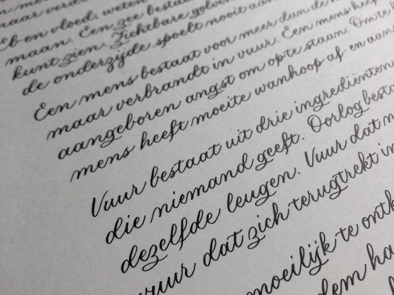 Kalligrafie als ambacht