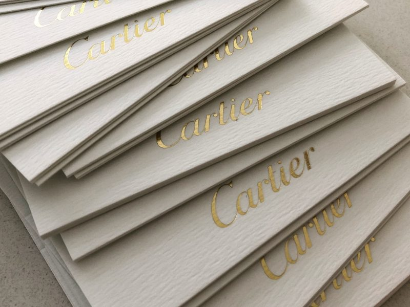 Placecards - calligraphy for Cartier