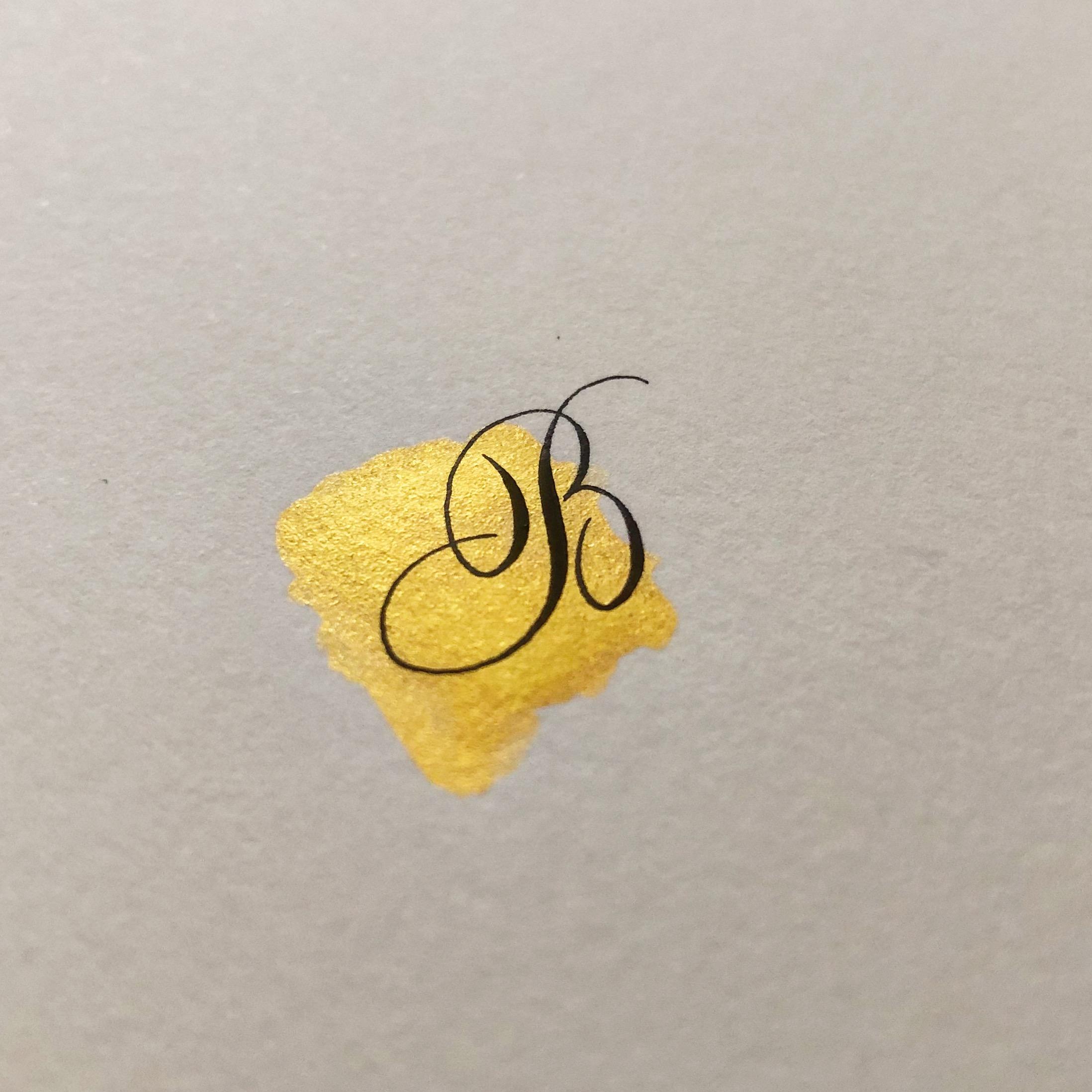 Finetec gold - kalligrafie met waterverf