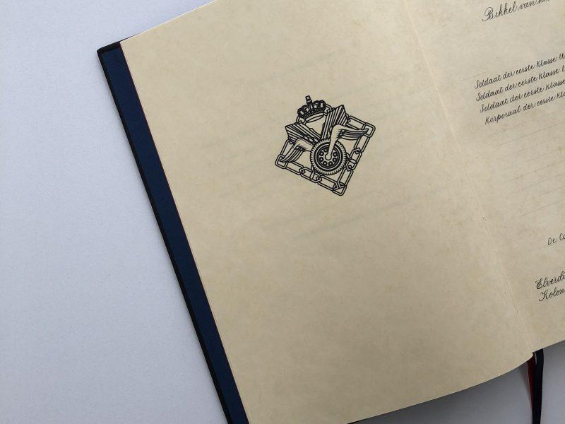 Kalligrafiewerk voor Ministerie van Defensie