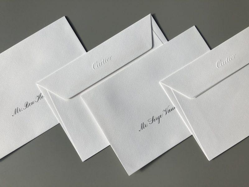 Kalligrafie voor Cartier