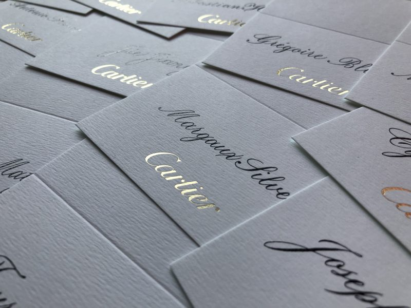 event calligraphy placecards