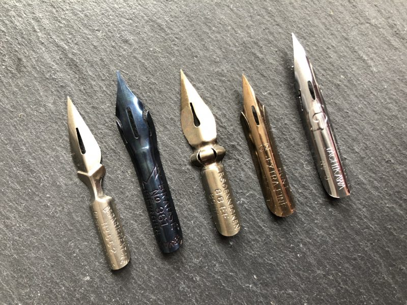 Favoriete kalligrafie nibs - kalligrafietip