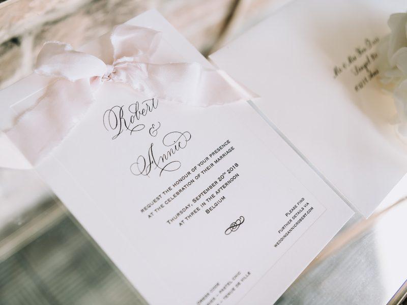 Kalligrafie voor uitnodigingen bruiloft