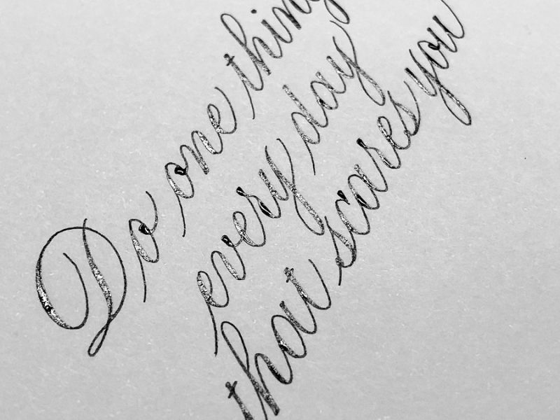 Instagram course mastering calligraphy